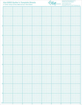 C & T Publishing Visi-GRID Quilter's Template Sheets-8-1/2