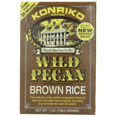 Konriko Wild Pecan Brown Rice, 7-Ounce Boxes (Pack of 12)