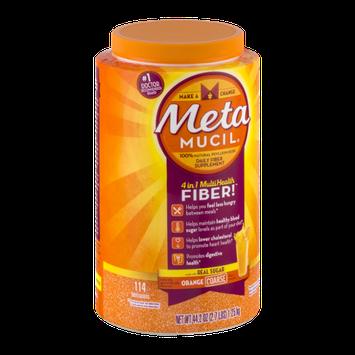 Meta Mucil Daily Fiber Supplement Orange