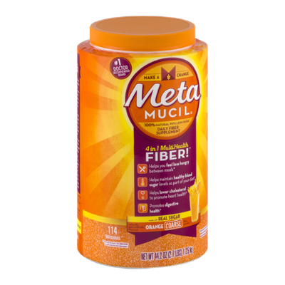 Meta Mucil Daily Fiber Supplement Orange