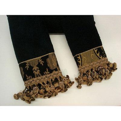 Sherry Kline China Art Black Decorative 3-piece Towel Set