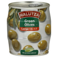 Halutza Green Olives Whole Canned, 18-Ounce (Pack of 6)
