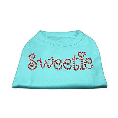 Mirage Pet Products 5278 XXLAQ Sweetie Rhinestone Shirts Aqua XXL 18