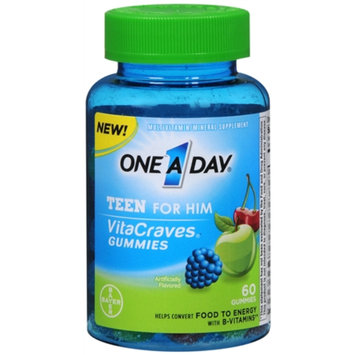 One A Day VitaCraves Teen for Him Multivitamin Gummies, Assorted, 60 ea