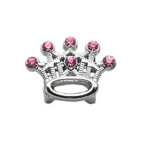 Mirage 3/8 Slider Crystal Crown Charm
