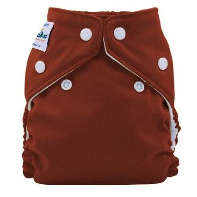 FuzziBunz Perfect Size Cloth Diaper, Choco Truffle, Medium 15-30 lbs
