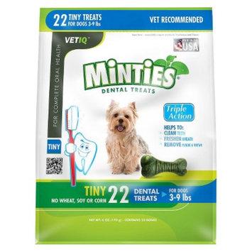 VetIQ Minties Dental Bone Pet Treat for Dogs - 6 Oz (XS)
