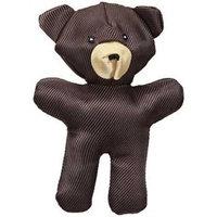 JW Pet Company Crackle Heads Canvas Bear Dog Toy, Medium