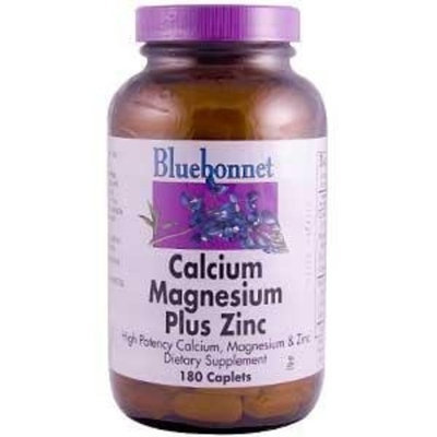 BlueBonnet Calcium Magnesium Zinc Caplets, 180 Count