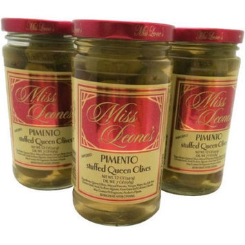 Generic Miss Leone's Pimento Stuffed Queen Olives, 12 oz, 3 count
