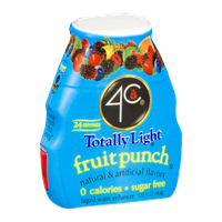 4C Totally Light Fruit Punch Liquid Water Enhancer