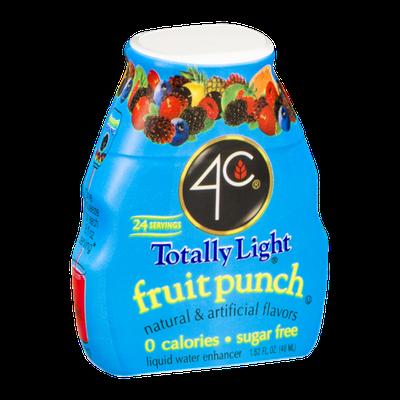 4C Totally Light Fruit Punch Liquid Water Enhancer