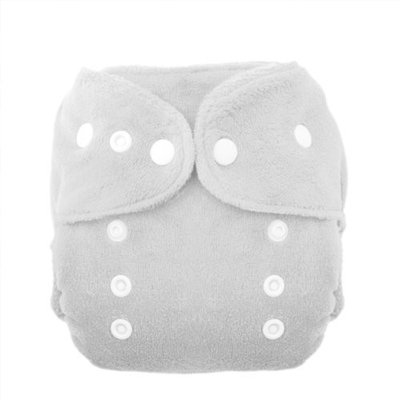 Thirsties Duo Fab Fitted Snap Cloth Diapers, White, Size Two (18-40 lbs)