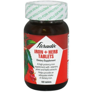 Salus Haus Floradix, Iron + Herb Tables, Dietary Supplement,180-Count Tablets