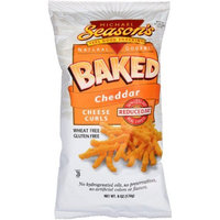 Michael Season's Baked Cheddar Cheese Curls, 6 Ounce Bags (Pack of 12)