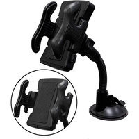 QVS Universal Windshield Mount Holder with 3-in-1 USB Sync/Charger Cable Kit