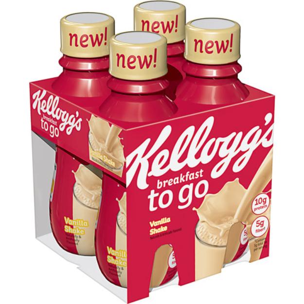 Kellogg's To-Go Vanilla Protein Shake 10 oz 4 ct