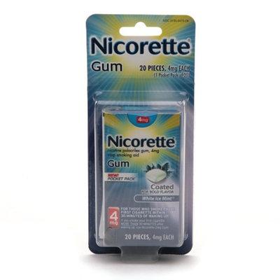 Nicorette Nicotine Gum Pocket Pack