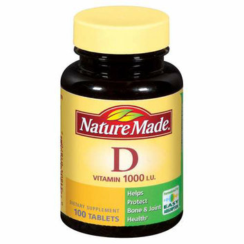 Nature Made Vitamin D 1000 I.U. Tablets Dietary Supplement 100 ct