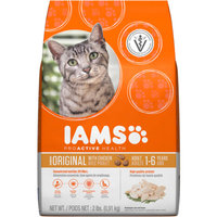 Iams ProActive Health Original with Chicken Premium Dry Cat Food 2 lbs