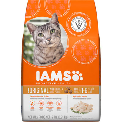 Iams ProActive Health Original with Chicken Premium Dry Cat Food 2 lbs