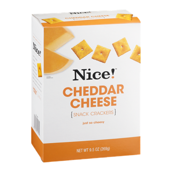 Nice! Snack Crackers Cheddar Cheese