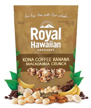 Royal Hawaiian Orchards Macadamia Crunch Kona Coffee Banana 4 oz