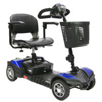 Drive Medical Spitfire Scout DLX 4 Wheel Compact Travel Scooter 16.5 Inch Folding Seat