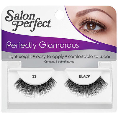 Salon Perfect Perfectly Glamorous Eyelashes, 33 Black, 1 pr