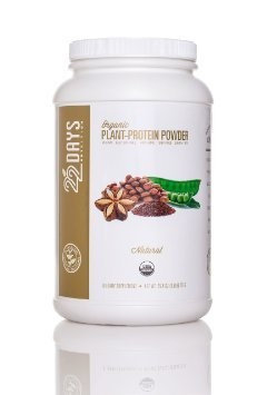 22 Days Nutrition 22 Days 273285 Nutrition Plant Protein Pouch Natural Organic - 0.85 oz.