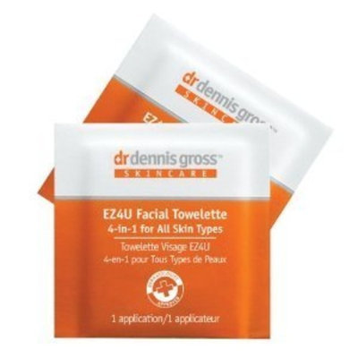 Md Skincare By Dr. Dennis Gross ~ 4-in-1 Facial Towelette EZ4U 2 GO (All Skin Types) 7 Applications