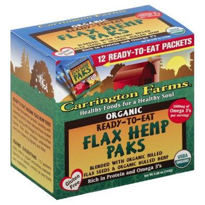Carrington Farms FLAX HEMP PAKS, OG2, RTE, (Pack of 6)