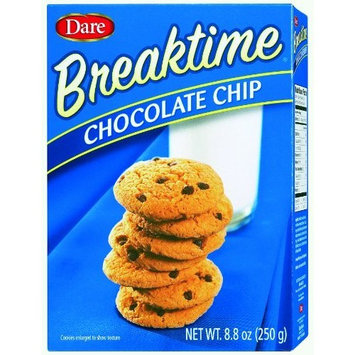 Dare Foods Breaktime Chocolate Chip Cookie, 8.8-Ounce (Pack of 12 )