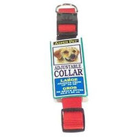 Petmate Aspen Pet 20808 16-inch to 26-inch Nylon Adjustable Dog Collar - Blue