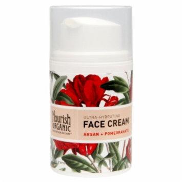 Nourish Organic Ultra-Hydrating Face Cream, Argan + Pomegranate, 1.7 oz