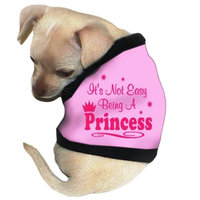 Pet Tease It's not Easy Being Princess Dog Tank, Small, Pink