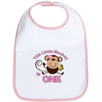 CafePress Newborn Little Monkey 1st Birthday Girl Bib