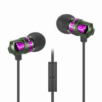 ID America IDH101-BLK Spark In-Ear Headphones, Green, 1 ea