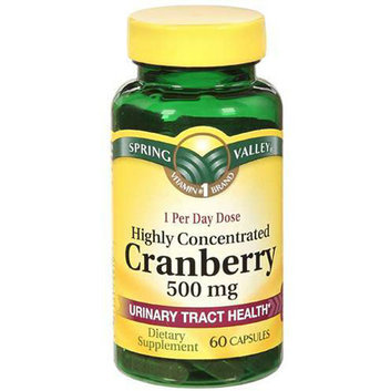 Spring Valley Highly Concentrated Cranberry Dietary Supplement 60 ct