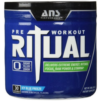 ANS Performance 30 Serving Ritual Pre Workout, Icy Blue Freeze - 30 Servings