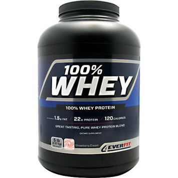 4Ever Fit, 100% Whey Protein Strawberry Cream 5lb