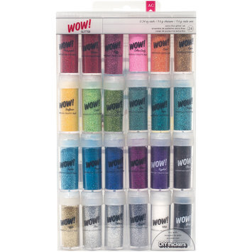 American Crafts Wow! Glitter, Assorted, 24/pkg