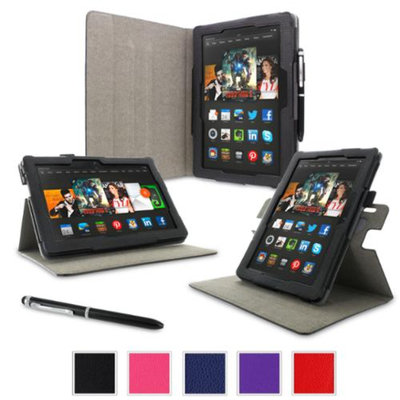rooCASE Amazon Kindle Fire HDX 8.9 Case - Dual View Multi Angle Tablet 8.9-Inch 8.9