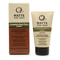Matte for Men Complete Face and Head Care Lotion with SPF 25 Pump