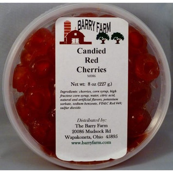 Barry Farm Candied Red Cherries, Whole, 8 oz.