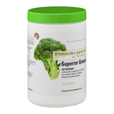 Food Science of Vermont Superior Greens Detoxifier Drink Mix