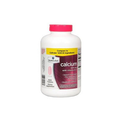 Member's Mark 600 mg Calcium + D3 Dietary Supplement (600 ct.)