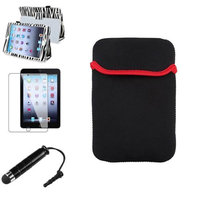 Insten iPad Mini 3/2/1 Case, by INSTEN Black Zebra Leather Case Stand Cover+Pouch for iPad Mini 3 2 1