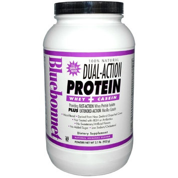 Bluebonnet Nutrition - Dual-Action Protein Whey Casein Natural Original Flavor - 2.1 lbs.