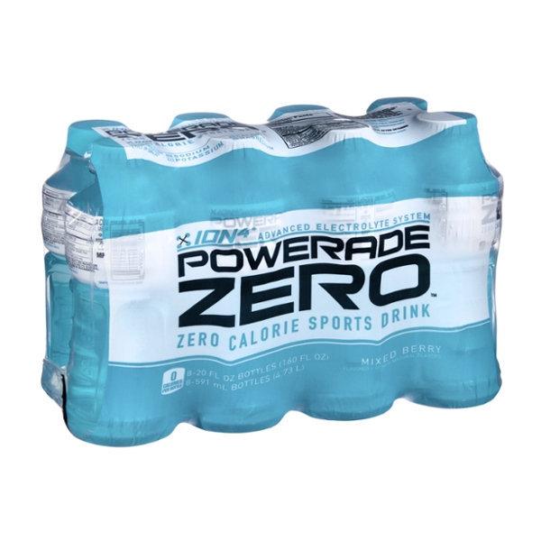 Powerade Zero Ion4 Mixed Berry Sports Drink - 8 CT